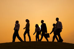 Group of Business People walking on the hill Royalty Free Stock Photography