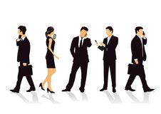 Business people with mobile phones Stock Image