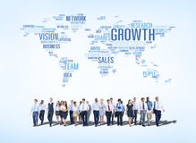 Group of Business People Walking Towards Growth Royalty Free Stock Images