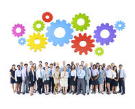 Group of Business People on White Background Royalty Free Stock Image