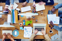 Group of Business People Working in the Office Royalty Free Stock Photos