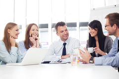 Group of business people working Royalty Free Stock Images