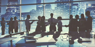 Group of Business People Working in the Office Concept Royalty Free Stock Photography