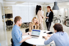 Group of business people working in office Royalty Free Stock Photography