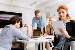 Group of business people working in office Royalty Free Stock Photos