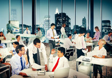 Group of Business People Working Office Meeting Concept royalty free stock image
