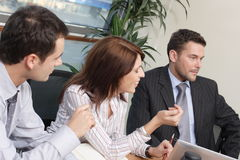 Group of business people working  on project Royalty Free Stock Photo