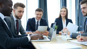 Group business people working together and brainstorming. Royalty Free Stock Image