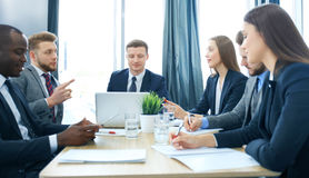 Group business people working together and brainstorming. Stock Images