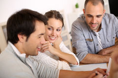 Group of business people working together Stock Photography