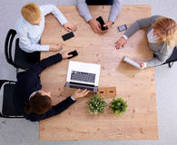 Group of business people working together on white Royalty Free Stock Image