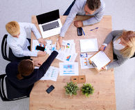 Group of business people working together on white Stock Image
