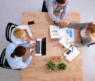 Group of business people working together on white Stock Images