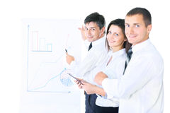 Group of business people working. royalty free stock image