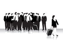 Group of business peoples, bla Royalty Free Stock Photos