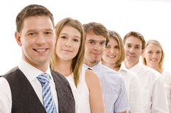 Group Business Team. Six business men and women in a line (shallow depth of field used Royalty Free Stock Images