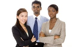 Group Business Team. Three diverse individuals make a small business team Stock Images