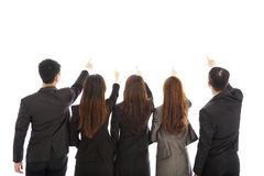 Group of business team point the same direction Stock Photography