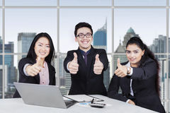 Group of business team with thumbs up Royalty Free Stock Image