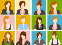 Group of business woman Royalty Free Stock Photos