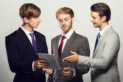 A group of businessman discussing about their ideas Royalty Free Stock Image