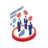 Group of businessman people isometric Successful business Partnership concept Stock Image