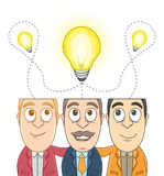 Group of businessman - Same idea Stock Photography