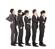 Group of businessman standing and waiting Stock Photos