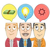 Group of businessman with their imagination Royalty Free Stock Photo