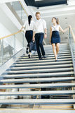 Group of businessman walking and taking stairs Royalty Free Stock Image