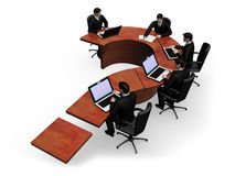 Group of businessmans works a table Royalty Free Stock Images