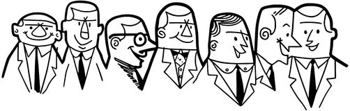 Group Of Businessmen Royalty Free Stock Images