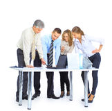 Group of businessmen the conclusion Stock Image