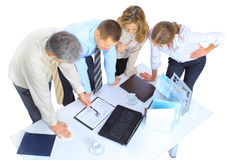 Group of businessmen the conclusion Royalty Free Stock Photos