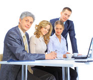 Group of businessmen the conclusion Royalty Free Stock Images