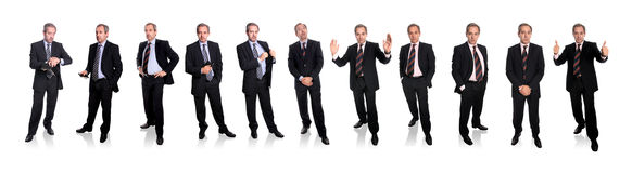 Group of businessmen - full body