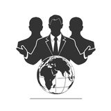 Group of businessmen with the globe Royalty Free Stock Photography