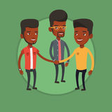Group of businessmen joining hands. Royalty Free Stock Photography