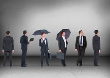 Group of Businessmen looking in same directions Stock Image