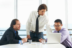 Group Of Businessmen Meeting In Office Stock Photography
