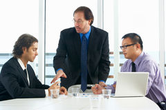 Group Of Businessmen Meeting In Office Royalty Free Stock Images