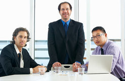 Group Of Businessmen Meeting In Office Royalty Free Stock Image
