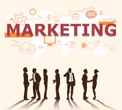 A group of businessmen plans for marketing Royalty Free Stock Photography