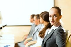 Group of businessmen at the presentation Royalty Free Stock Image