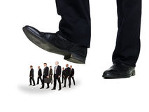 Group of Businessmen under a sole Stock Photo