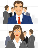 Group of a businessmen Stock Images