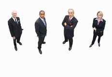 Group of businessmen and woman, cut out stock photo