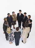 Group Of Businesspeople In Circle Stock Photos