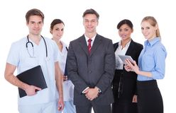 Group of businesspeople and doctors Royalty Free Stock Photography