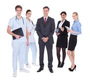 Group of businesspeople and doctors Royalty Free Stock Photo